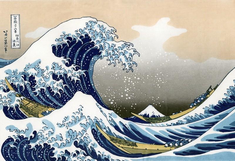 хокусай волна